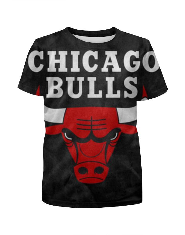 Футболка с полной запечаткой для девочек Printio Chicago bulls фанатская атрибутика nba chicago bulls 1998 23k