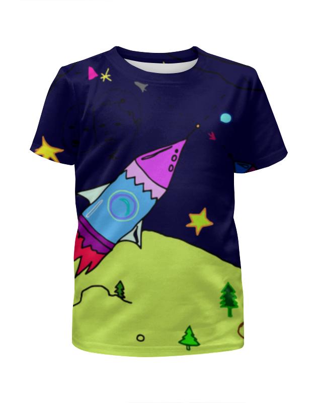 Фото - Футболка с полной запечаткой для девочек Printio Ракета в космосе футболка с полной запечаткой для девочек printio ракета