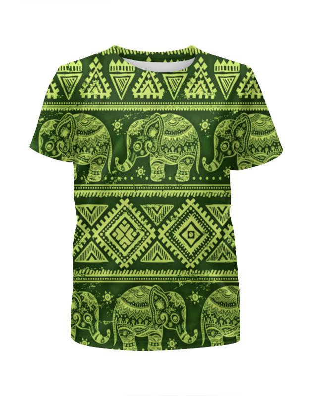 Футболка с полной запечаткой для девочек Printio Слоны футболка с полной запечаткой мужская printio слоны