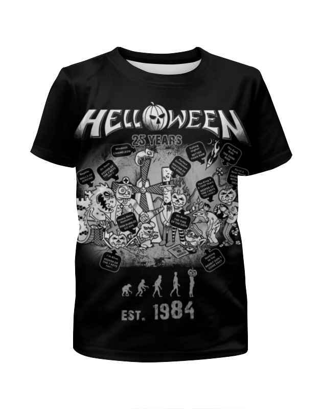 Printio Helloween ( rock band ) 2 knives x4 files odd rock band switch