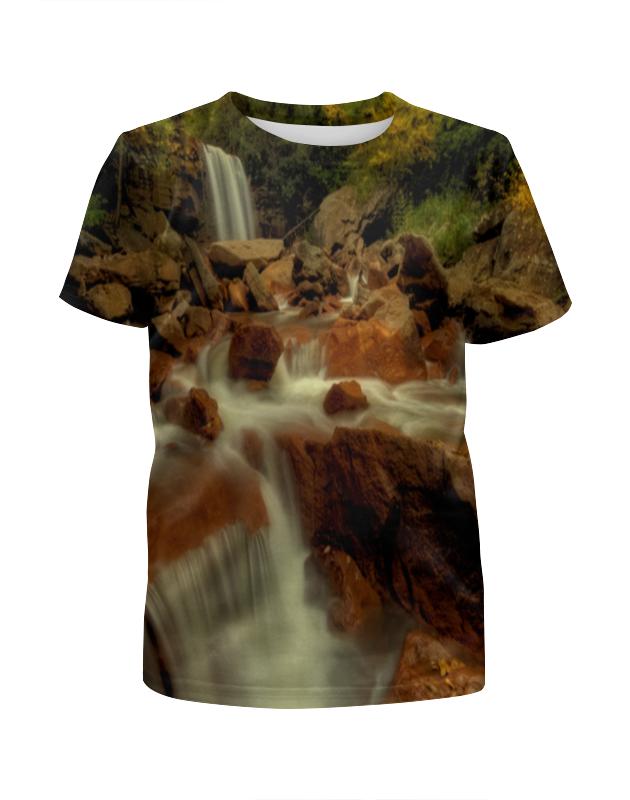Футболка с полной запечаткой для девочек Printio Горный ручей футболка с полной запечаткой для мальчиков printio горный ручей