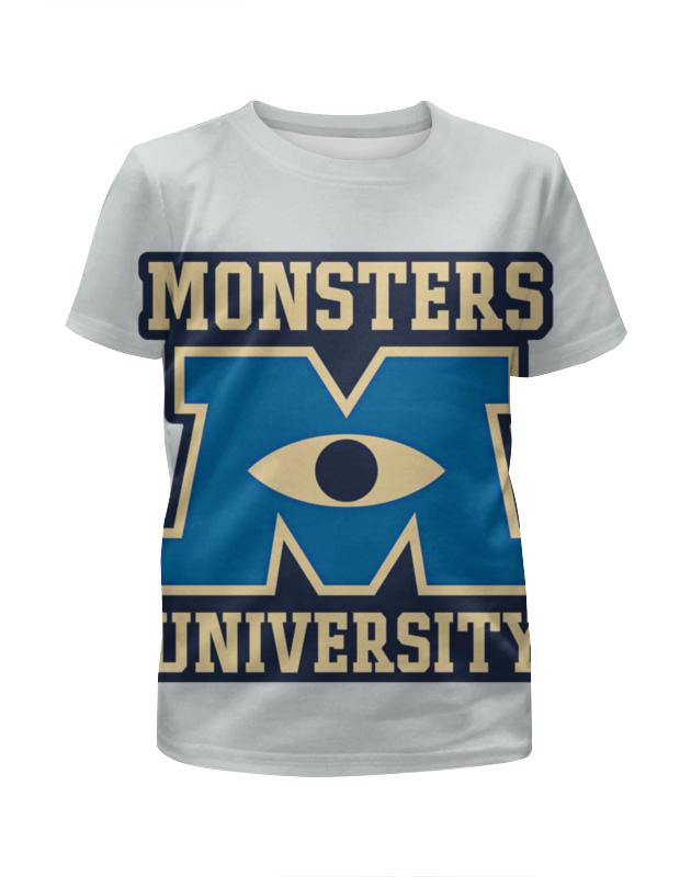 Футболка с полной запечаткой для девочек Printio Monsters university свитшот унисекс с полной запечаткой printio monsters 1
