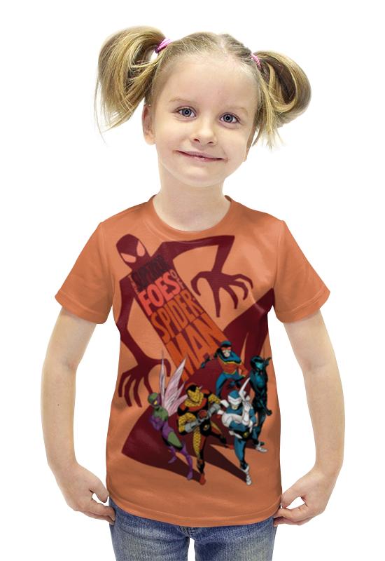 Футболка с полной запечаткой для девочек Printio Комиксы футболка с полной запечаткой для девочек printio пртигр arsb