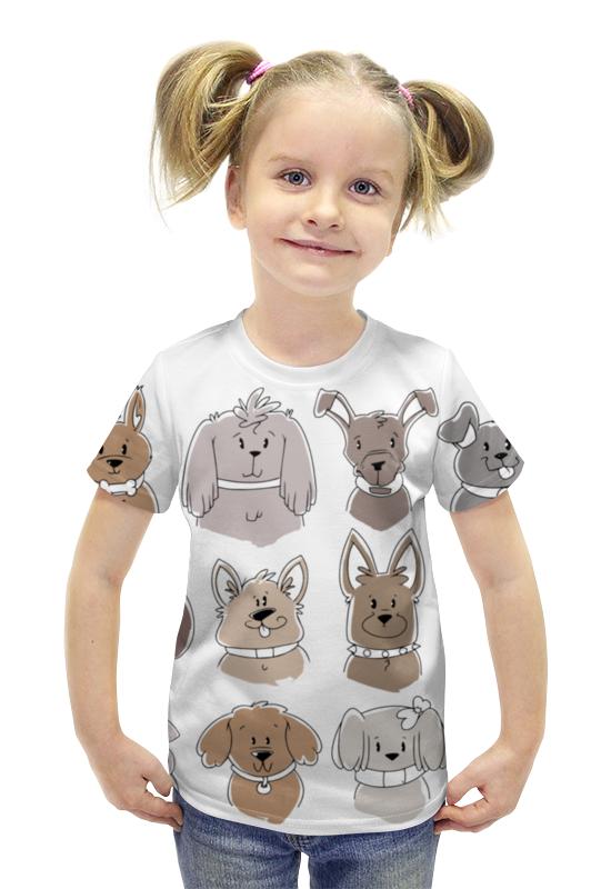 Футболка с полной запечаткой для девочек Printio Собачки футболка с полной запечаткой для девочек printio spawn