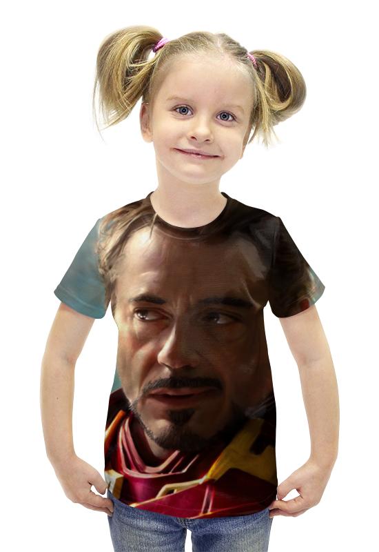 Футболка с полной запечаткой для девочек Printio Marvel(железный человек) футболка с полной запечаткой для девочек printio heros marvel arsb