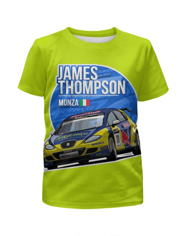 Футболка с полной запечаткой для девочек Printio James thompson футболка для беременных printio hunter s thompson cat