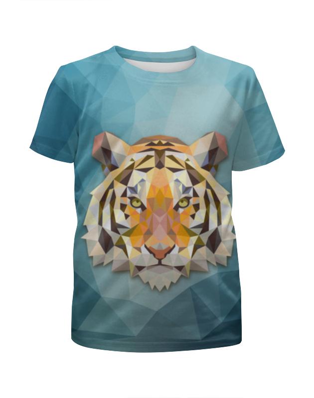 Футболка с полной запечаткой для девочек Printio Полигональный тигр футболка с полной запечаткой для девочек printio пртигр arsb
