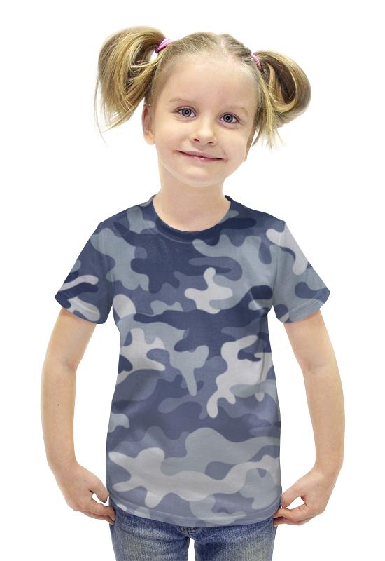Футболка с полной запечаткой для девочек Printio Камуфляж футболка с полной запечаткой для девочек printio рианна