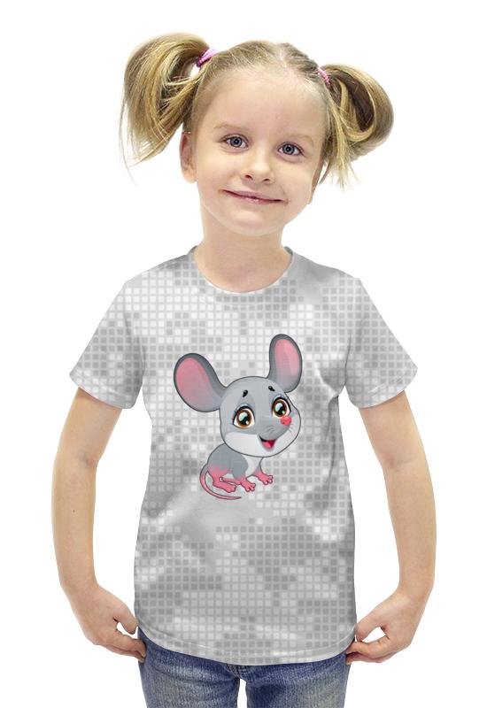 Футболка с полной запечаткой для девочек Printio Мышонок футболка с полной запечаткой для девочек printio пртигр arsb