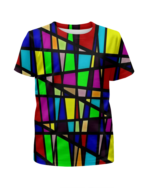 Футболка с полной запечаткой для девочек Printio Line линии футболка с полной запечаткой женская printio line линии
