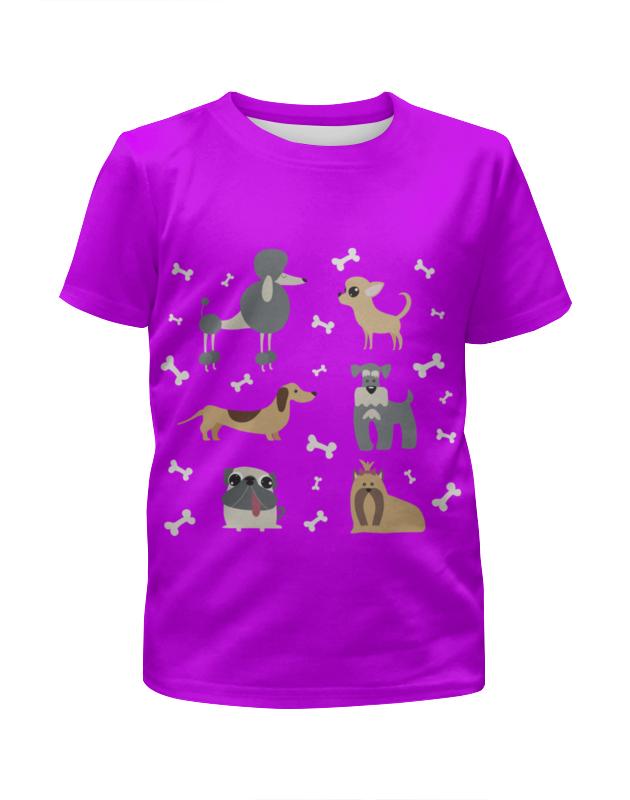 Футболка с полной запечаткой для девочек Printio Забавные собачки футболка с полной запечаткой для девочек printio spawn