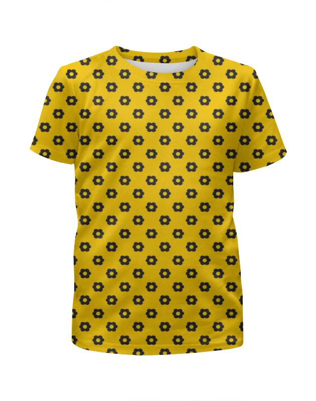 Футболка с полной запечаткой для девочек Printio Black flower футболка с полной запечаткой printio spring flower