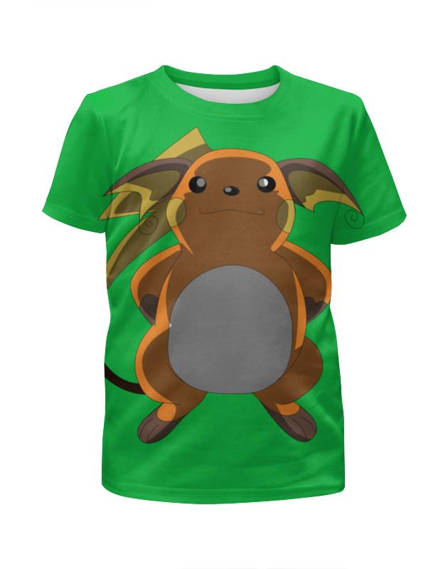Футболка с полной запечаткой для девочек Printio Райчу футболка с полной запечаткой для девочек printio дайвинг