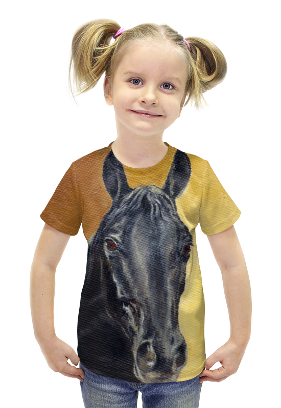 Футболка с полной запечаткой для девочек Printio Портрет лошади футболка с полной запечаткой для девочек printio картина