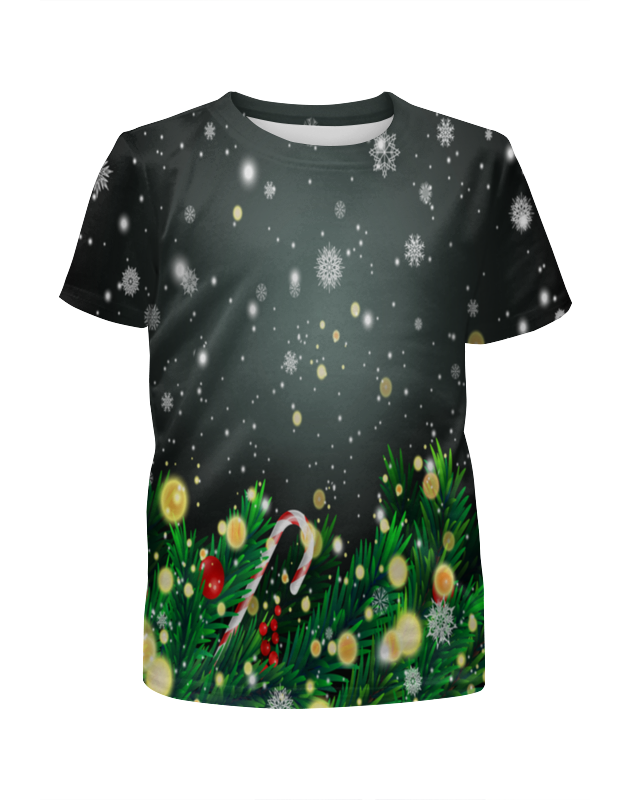 Футболка с полной запечаткой для девочек Printio Падающий снег футболка с полной запечаткой для девочек printio spawn