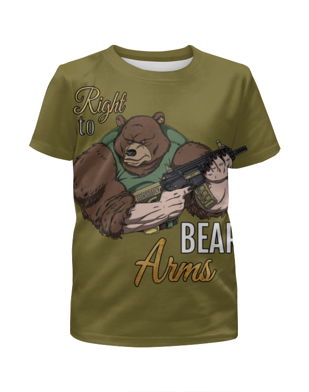 Футболка с полной запечаткой для девочек Printio Bear arms футболка с полной запечаткой для девочек printio пртигр arsb