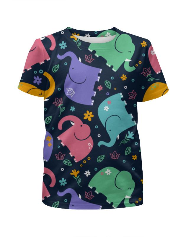 Футболка с полной запечаткой для девочек Printio Слоники футболка стрэйч printio слоники