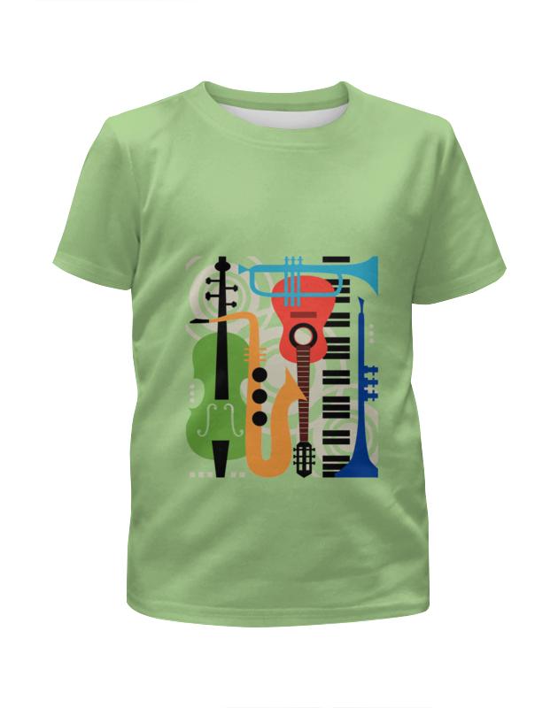 Футболка с полной запечаткой для девочек Printio Музыкальные инструменты музыкальные инструменты для детей в н новгороде