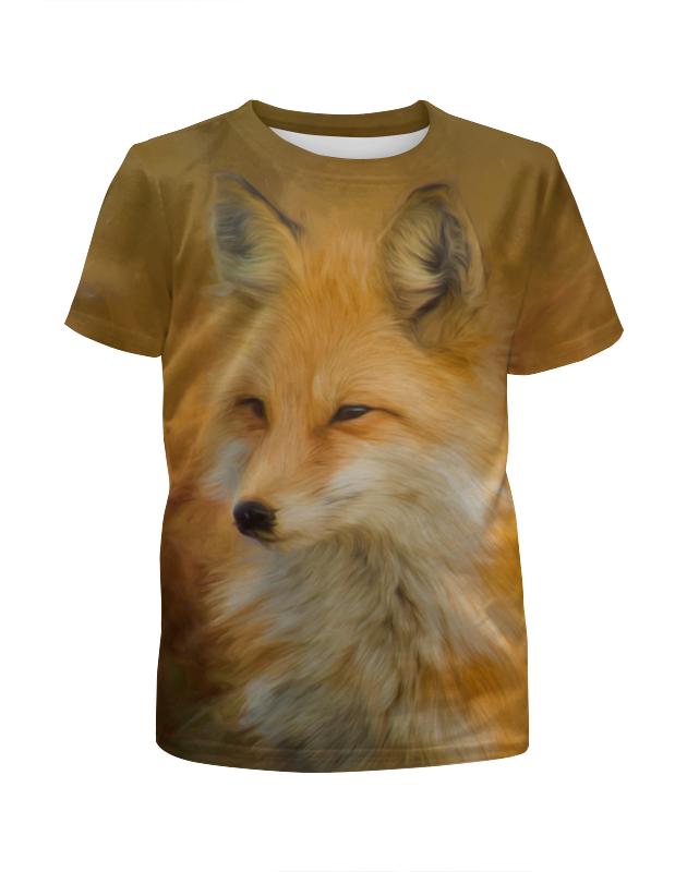Футболка с полной запечаткой для девочек Printio Лисичка футболка с полной запечаткой для девочек printio хипстер пес