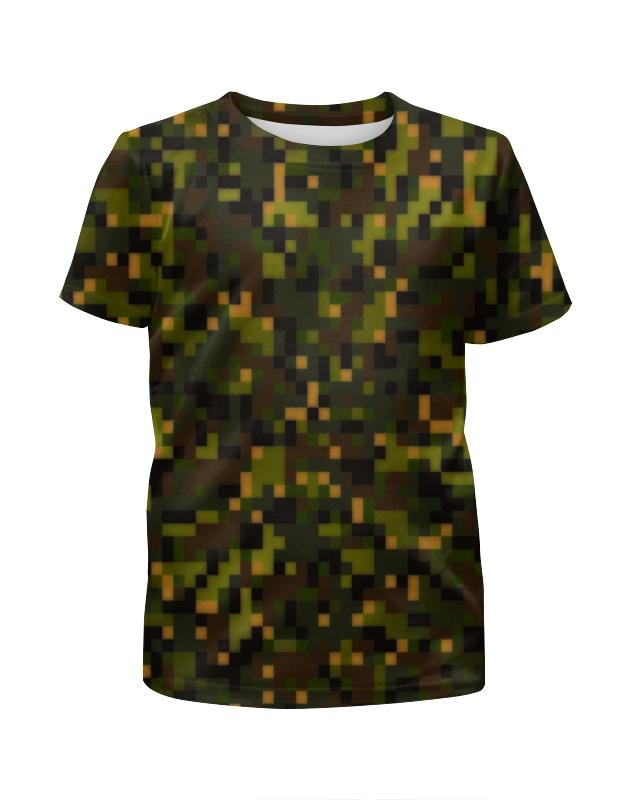 Футболка с полной запечаткой для девочек Printio Pixel green футболка с полной запечаткой для девочек printio пртигр arsb