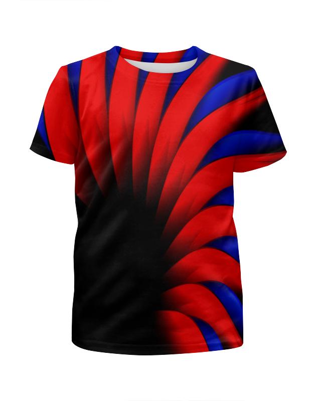 Футболка с полной запечаткой для девочек Printio Сине-красный футболка с полной запечаткой для девочек printio пртигр arsb