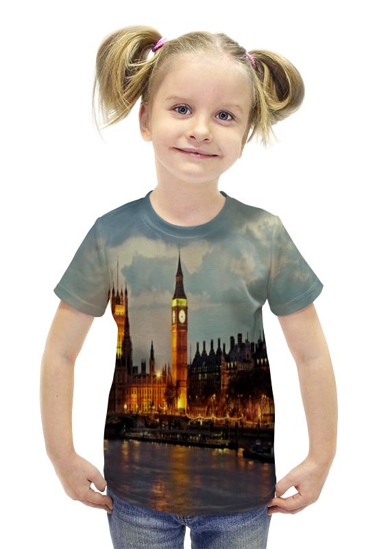 Футболка с полной запечаткой для девочек Printio London футболка с полной запечаткой для девочек printio пртигр arsb