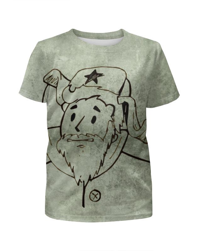 Футболка с полной запечаткой для девочек Printio Fallout kuz'mich футболка классическая printio fallout фэллаут