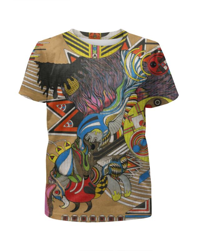 Футболка с полной запечаткой для девочек Printio Psychedelic футболка flip psychedelic black