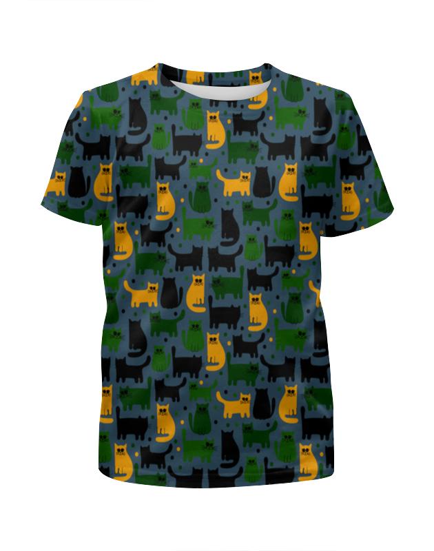 Футболка с полной запечаткой для девочек Printio Милые котики футболка с полной запечаткой для девочек printio котики