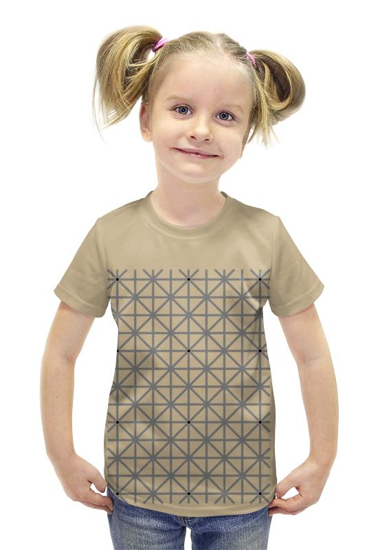 Футболка с полной запечаткой для девочек Printio Оптическая иллюзия футболка с полной запечаткой для девочек printio иллюзия