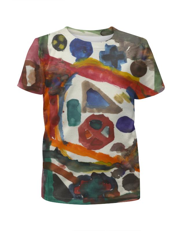 Футболка с полной запечаткой для девочек Printio Рсунк акварелью, геометрческе фгуры