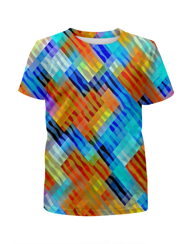 Футболка с полной запечаткой для девочек Printio Волнистый узор футболка с полной запечаткой для девочек printio волнистый узор