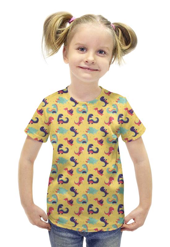 Футболка с полной запечаткой для девочек Printio Динозаврики футболка с полной запечаткой для девочек printio spawn