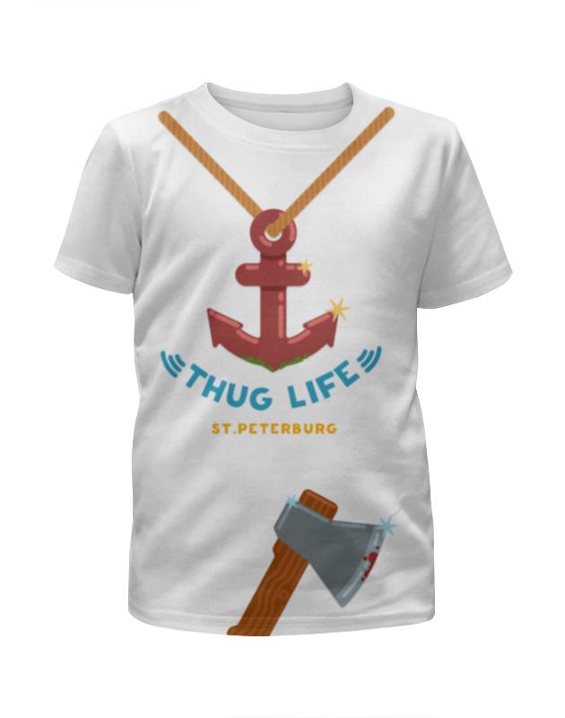 Футболка с полной запечаткой для девочек Printio Thug life (st.peterburg) футболка с полной запечаткой для девочек printio третий лишний