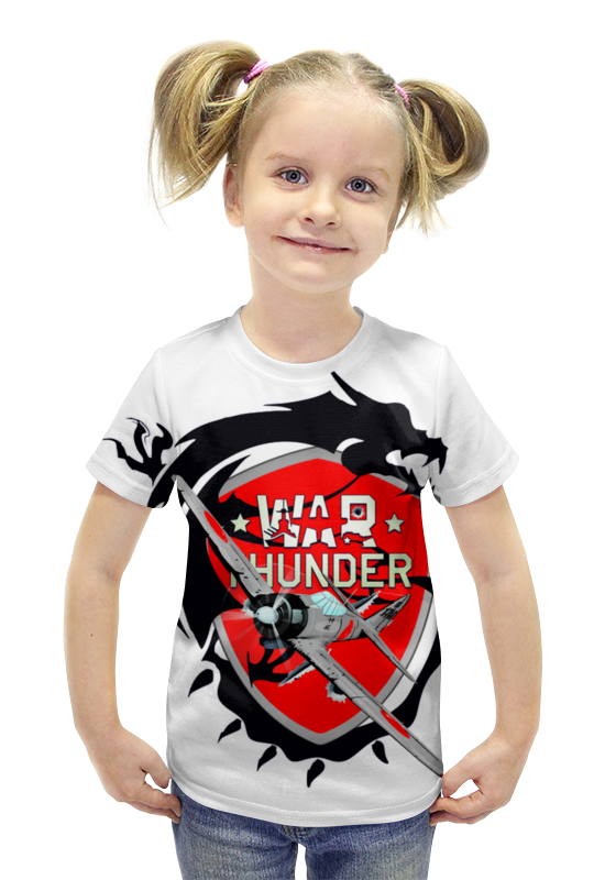 Футболка с полной запечаткой для девочек Printio War thunder