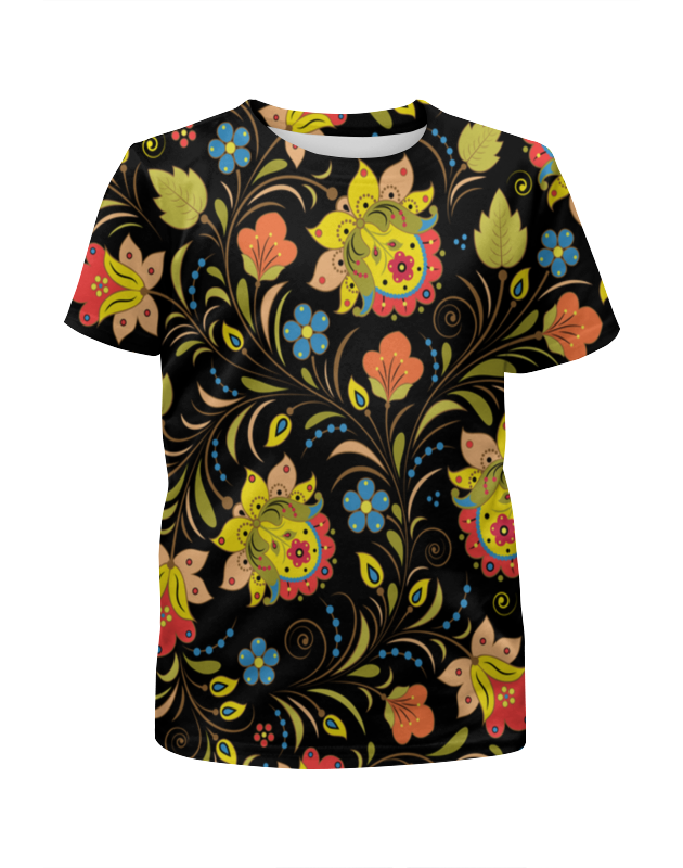 Printio Расписные узоры футболка с полной запечаткой для девочек printio цветы расписные
