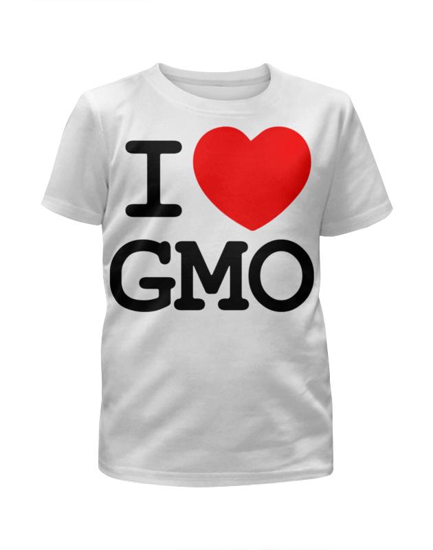 Футболка с полной запечаткой для девочек Printio I love gmo футболка с полной запечаткой для девочек printio i want you for nova corps