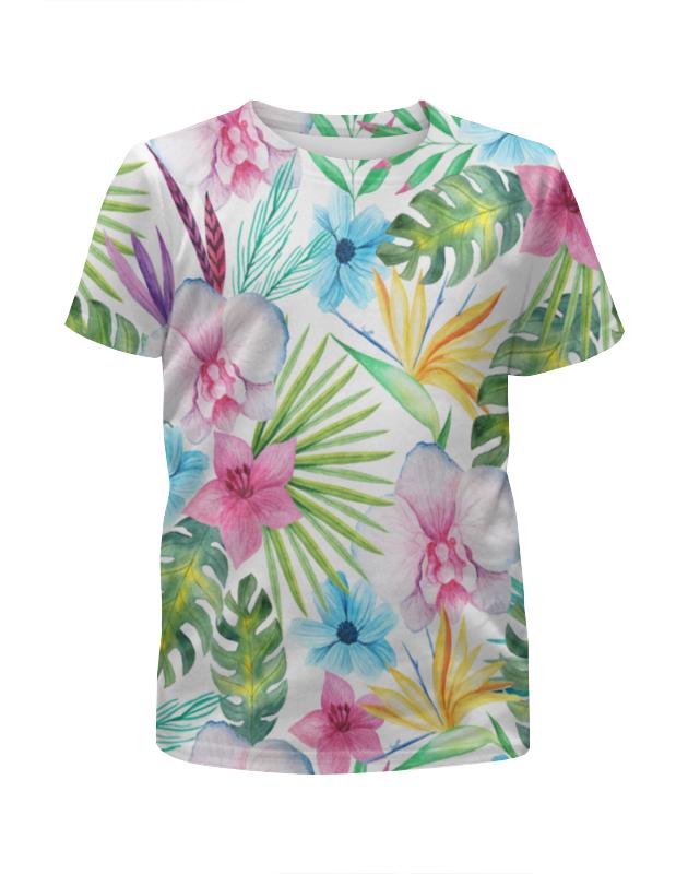 Футболка с полной запечаткой для девочек Printio Тропики футболка с полной запечаткой для девочек printio на отдых