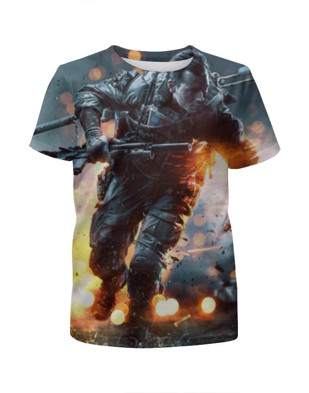 Футболка с полной запечаткой для девочек Printio Солдат (battlefield) футболка для беременных printio неизвестный солдат
