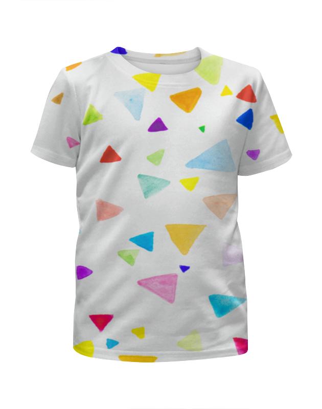 Футболка с полной запечаткой для девочек Printio Треугольники цена