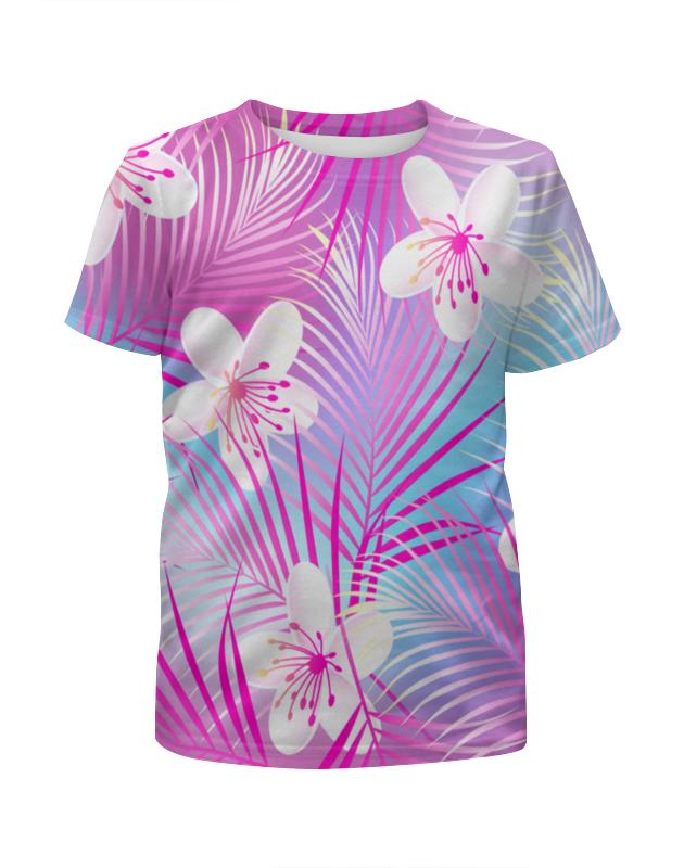 Футболка с полной запечаткой для девочек Printio Цветы футболка с полной запечаткой для девочек printio pluto