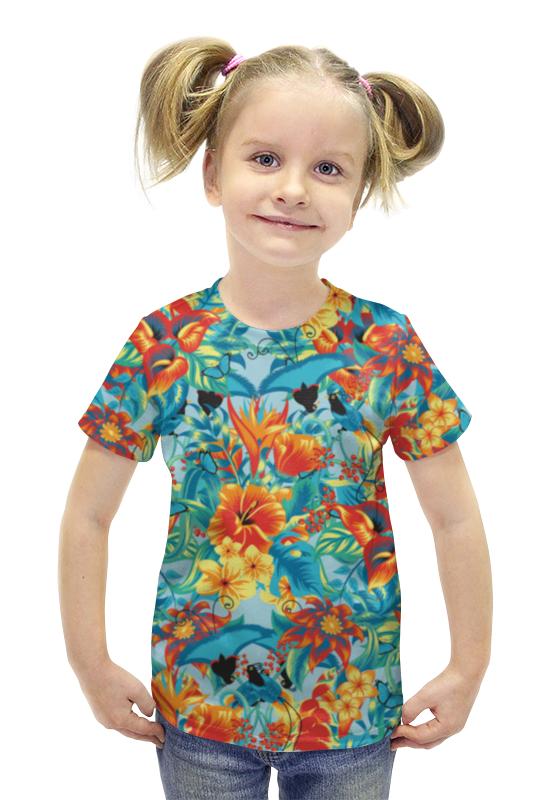 Футболка с полной запечаткой для девочек Printio Лилии футболка с полной запечаткой для девочек printio пртигр arsb