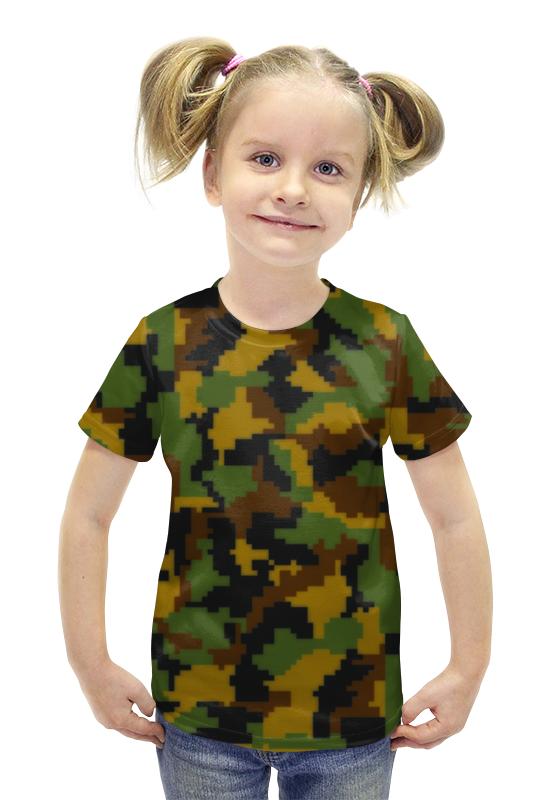 Футболка с полной запечаткой для девочек Printio Камуфляжный футболка с полной запечаткой для девочек printio пртигр arsb
