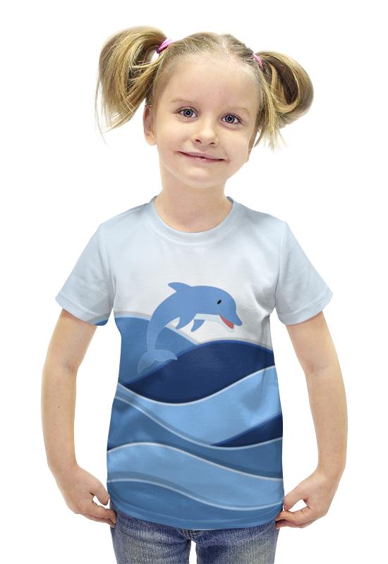Футболка с полной запечаткой для девочек Printio Дельфин футболка с полной запечаткой для девочек printio пртигр arsb