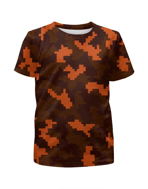 Футболка с полной запечаткой для девочек Printio Пиксельный камуфляж футболка с полной запечаткой для девочек printio slove arsb
