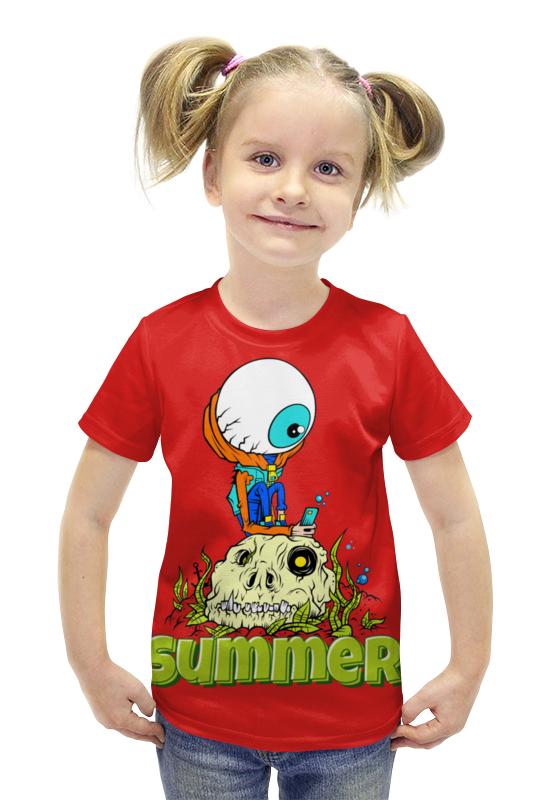 Футболка с полной запечаткой для девочек Printio Summer футболка с полной запечаткой для девочек printio spawn