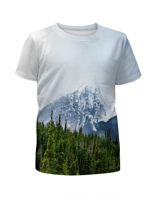 Футболка с полной запечаткой для девочек Printio Ледяная гора футболка с полной запечаткой для девочек printio пртигр arsb