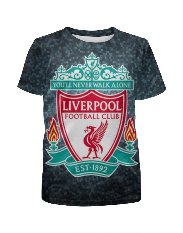 Фото - Футболка с полной запечаткой для девочек Printio Liverpool (ливерпуль) футболка wearcraft premium slim fit printio liverpool ливерпуль