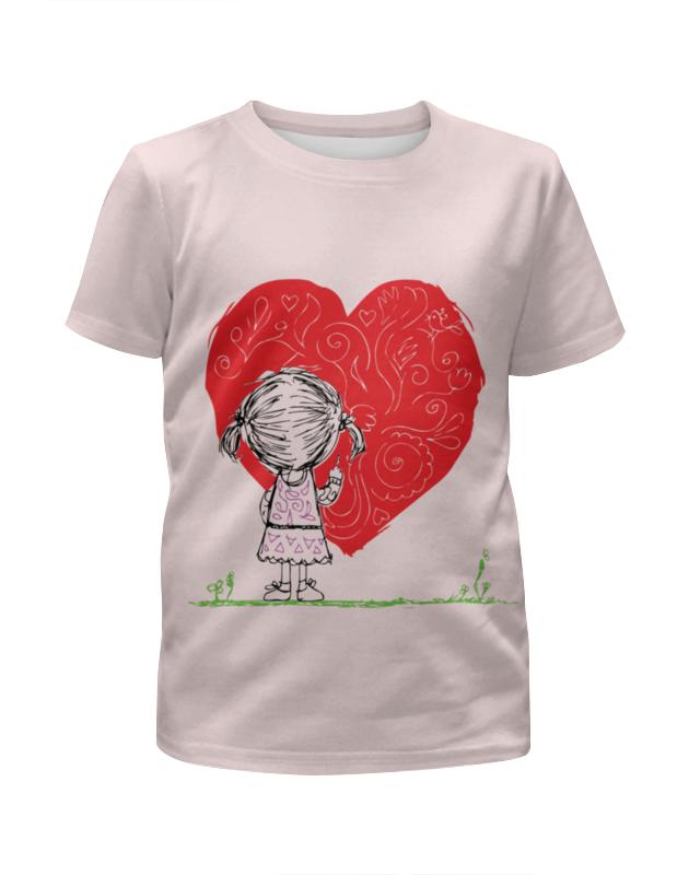 Футболка с полной запечаткой для девочек Printio Рисует сердце футболка с полной запечаткой для девочек printio spawn