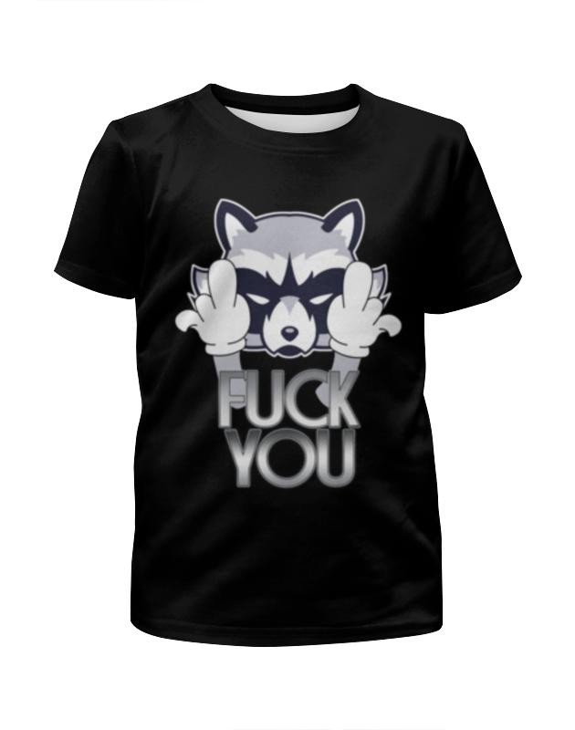 Футболка с полной запечаткой для девочек Printio Енотик футболка с полной запечаткой для мальчиков printio еноты